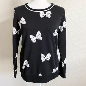 Kate Spade Black Bow Pullover Sweater S